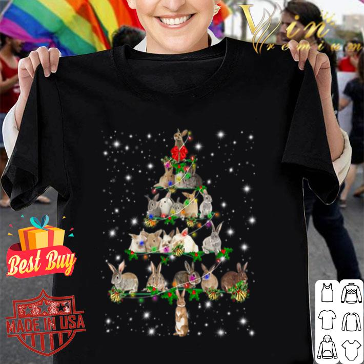 Rabbit Christmas Tree Bunny shirt