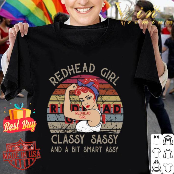 Redhead girl classy sassy and a bit smart assy vintage shirt