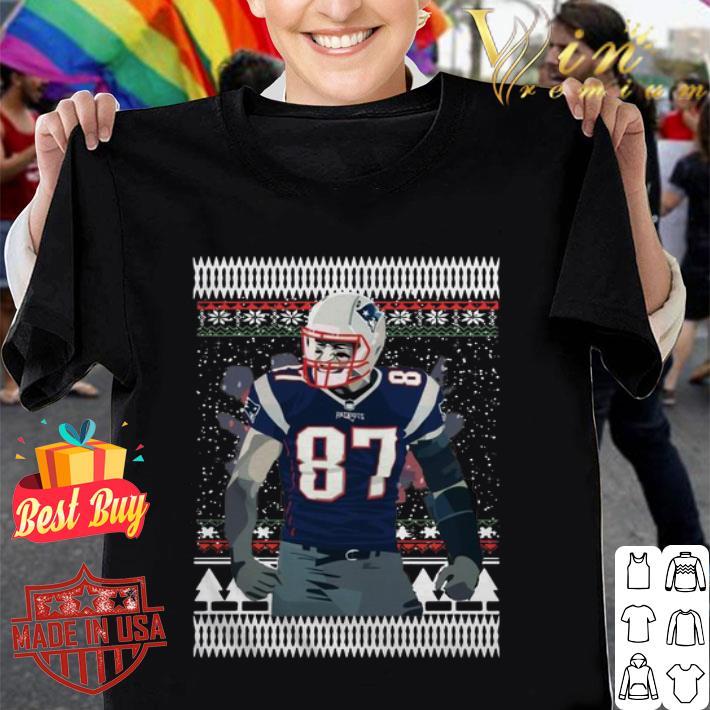 Rob Gronkowski 87 New England Patriots Ugly Christmas sweater