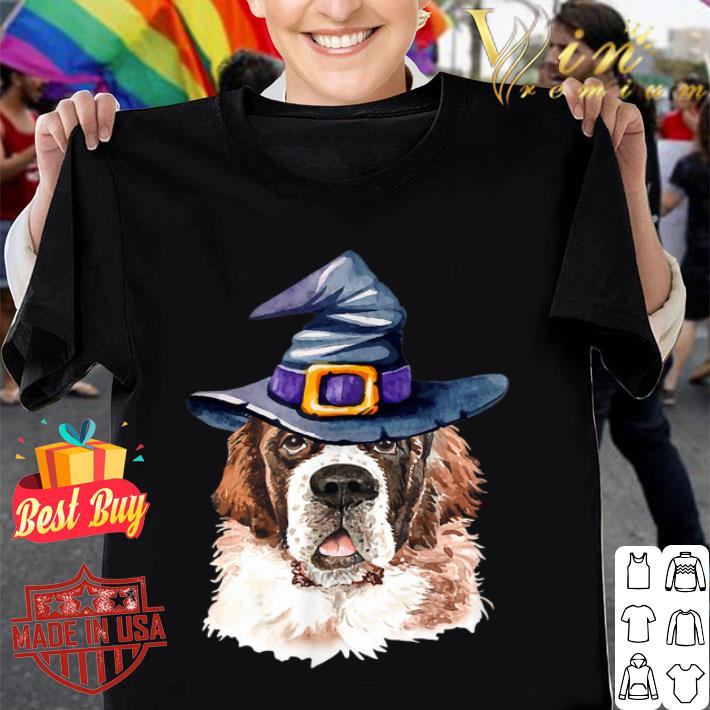Saint Bernard Witch Hat Halloween shirt