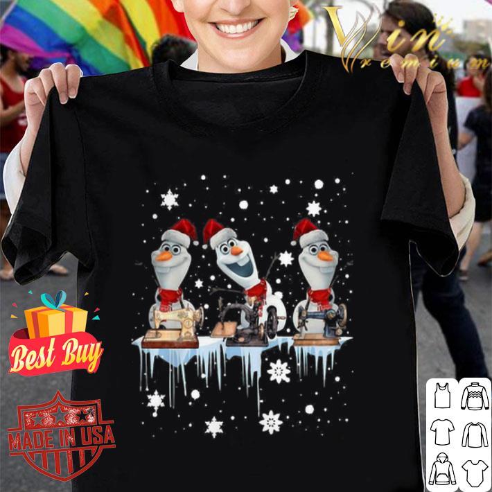 Santa Olaf Sewing Christmas shirt