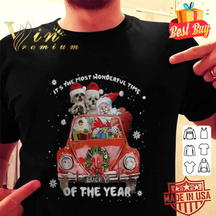 Shih Tzu Santa its the most wonderful time of the year Christmas shirt