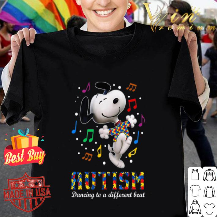 Snoopy Autism dancing to different beat shirt