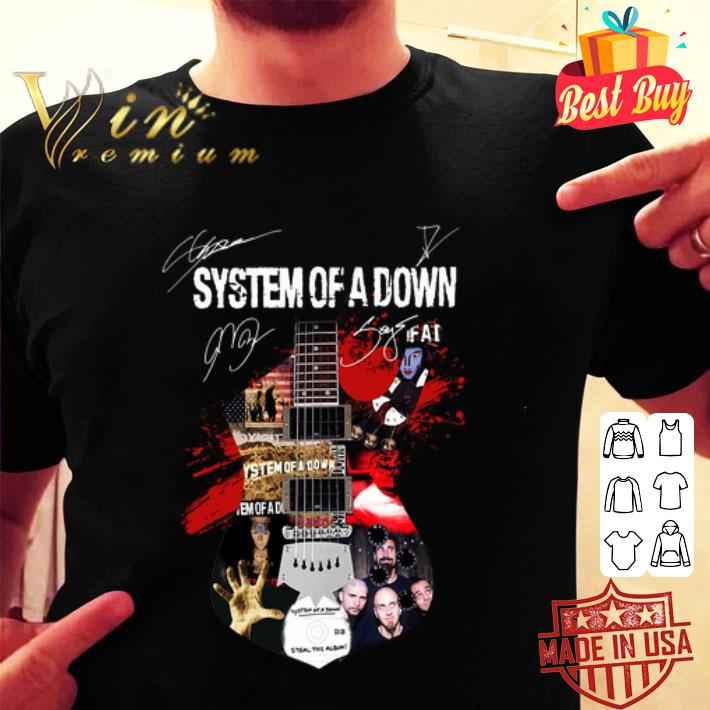 System of a down all signature guitar shirt
