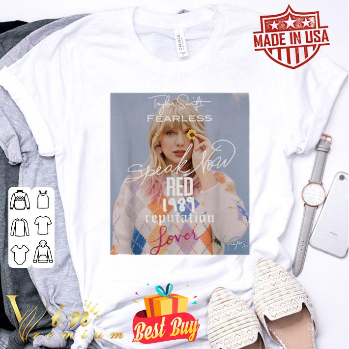 Taylor Swift Fearless Speak Now Red 1989 Reputation Lover signed shirt