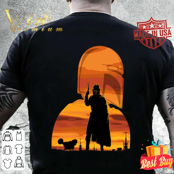 The Mandalorian Gunfighter Has Landed Star Wars Sunset shirt