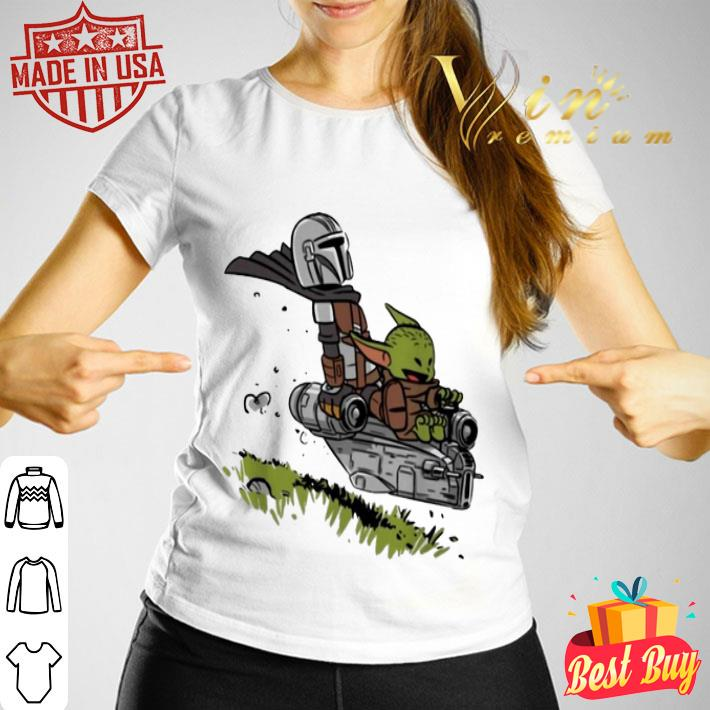 The Mandalorian Vault Mando and Child Baby Yoda shirt