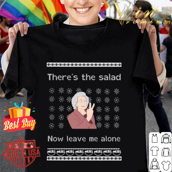 There's the salad now leave me alone ugly Christmas sweater