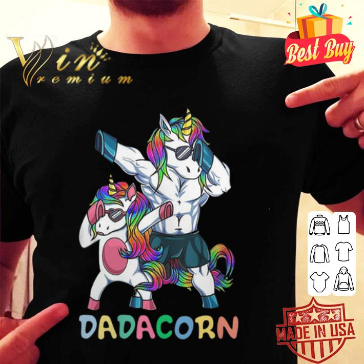 Unicorn dad Dadacorn LGBT shirt