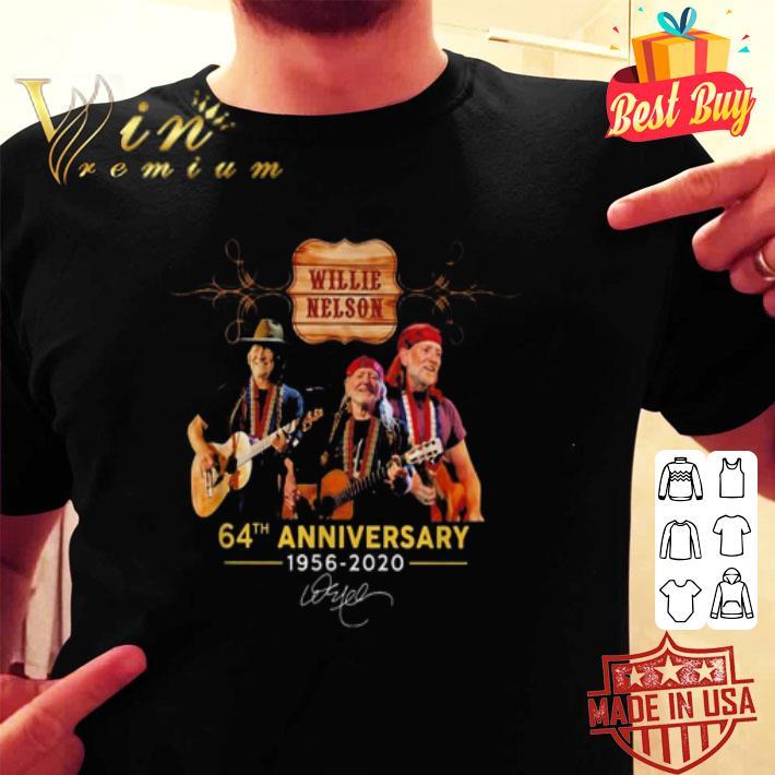 Willie Nelson 64th anniversary 1956 2020 signature shirt