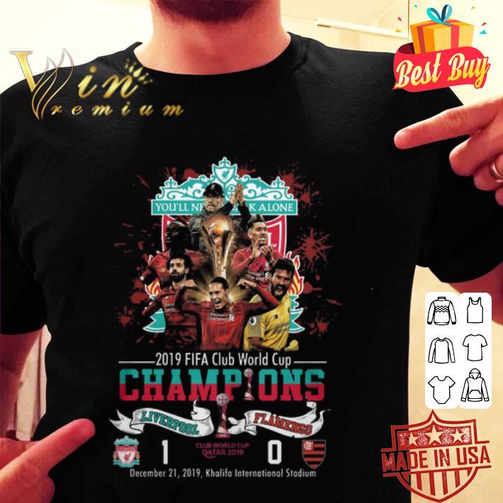 YNWA 2019 Fifa Club World Cup Champions Liverpool Vs Flamengo shirt
