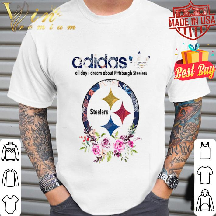 adidas all day i dream about Pittsburgh Steelers shirt