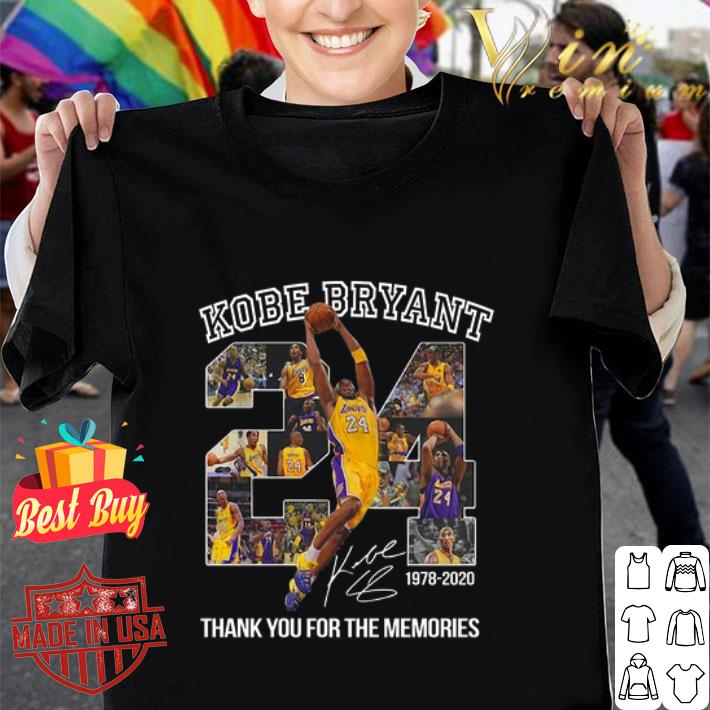 24 Kobe Bryant signature 1978-2020 thank you for the memories shirt