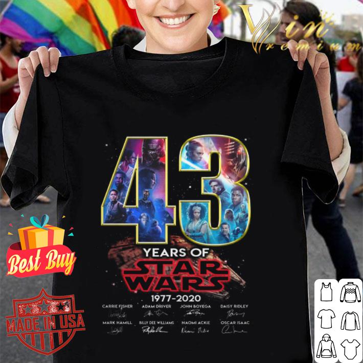43 years of Star Wars 1977 2020 Rise of Skywalker autographed shirt