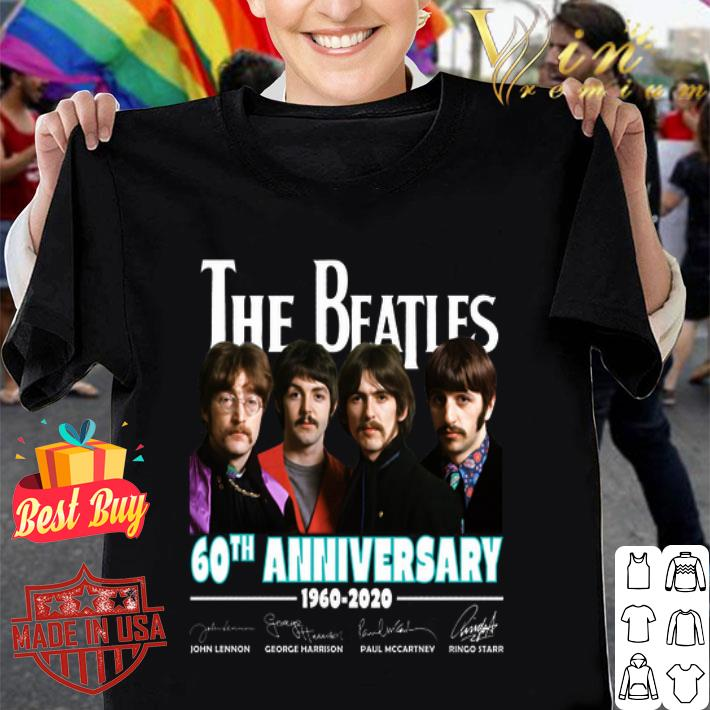 All member The Beatles 60th anniversary 1960 2020 signatures shirt