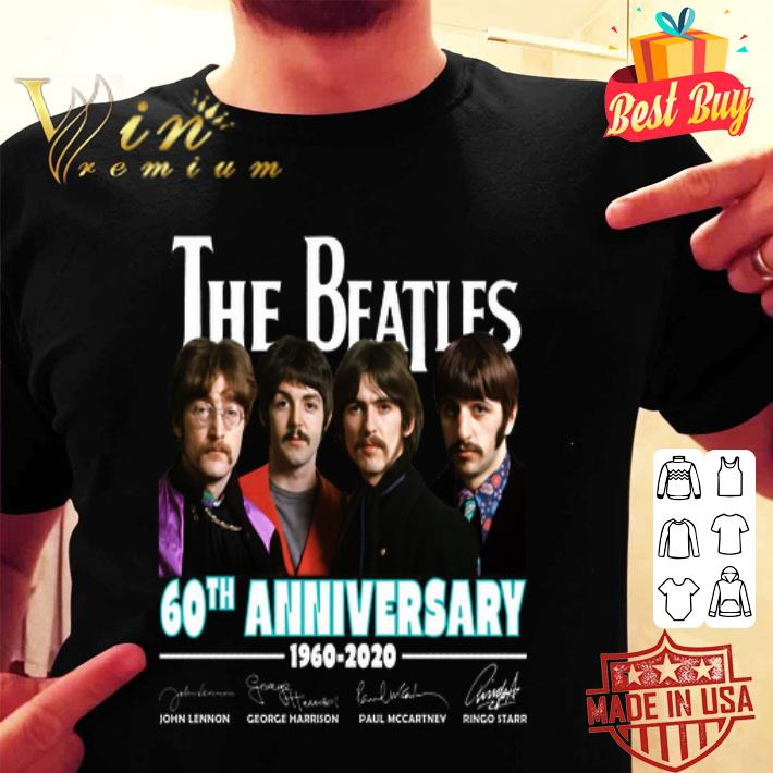 All member The Beatles 60th anniversary 1960 2020 signatures shirt