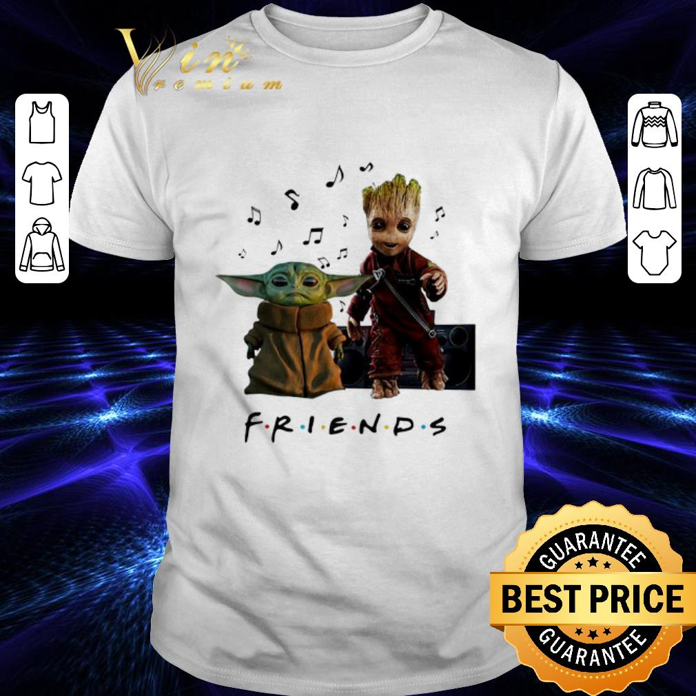 Baby Yoda And Baby Groot Friends Music Note shirt