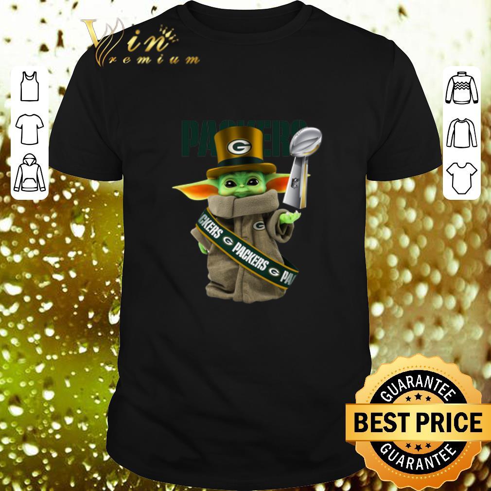 Baby Yoda Green Bay Packers Super Bowl Liv Star Wars Shirt Hoodie Sweater Longsleeve T Shirt