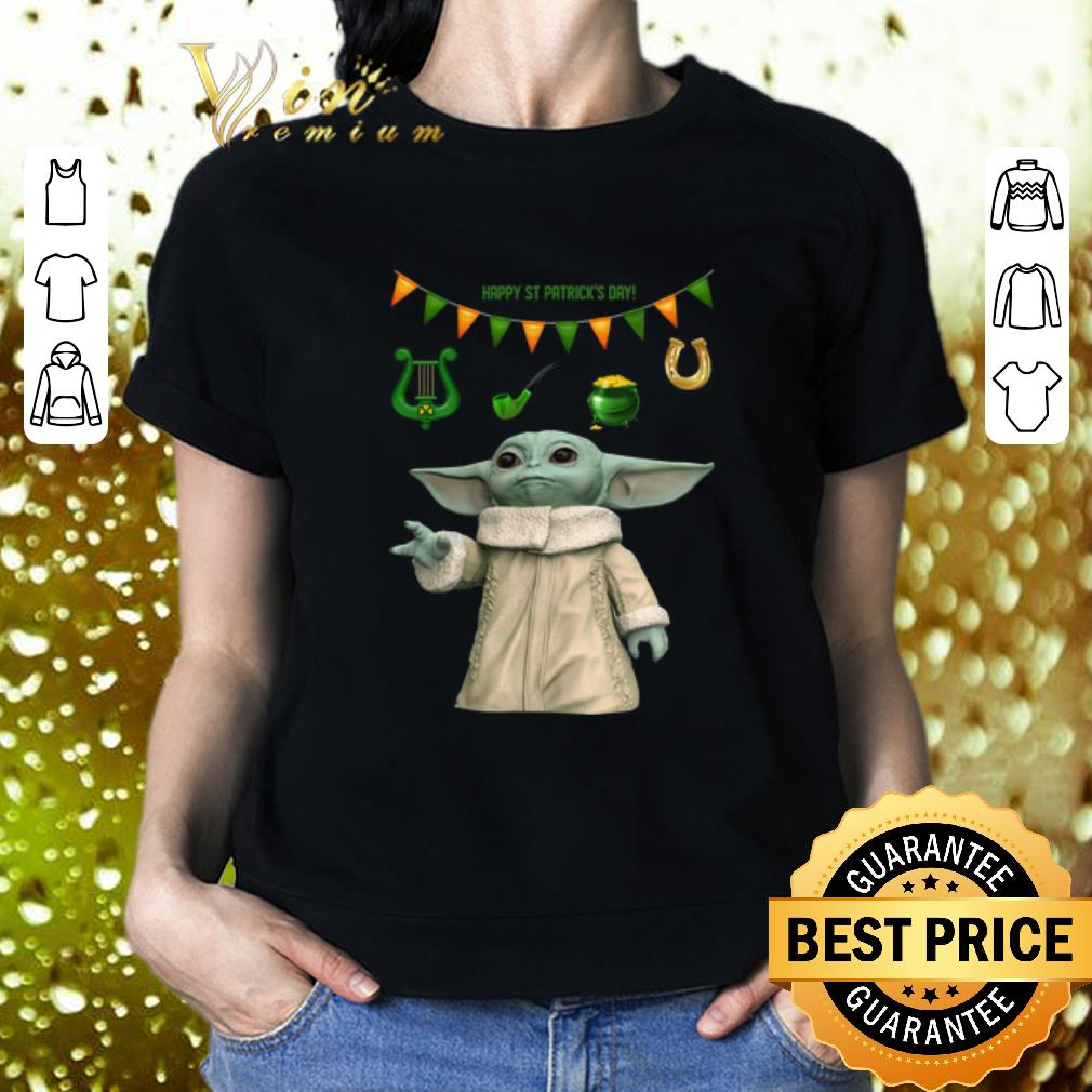 Baby Yoda Happy St Patrick's Day Star Wars Mandalorian shirt