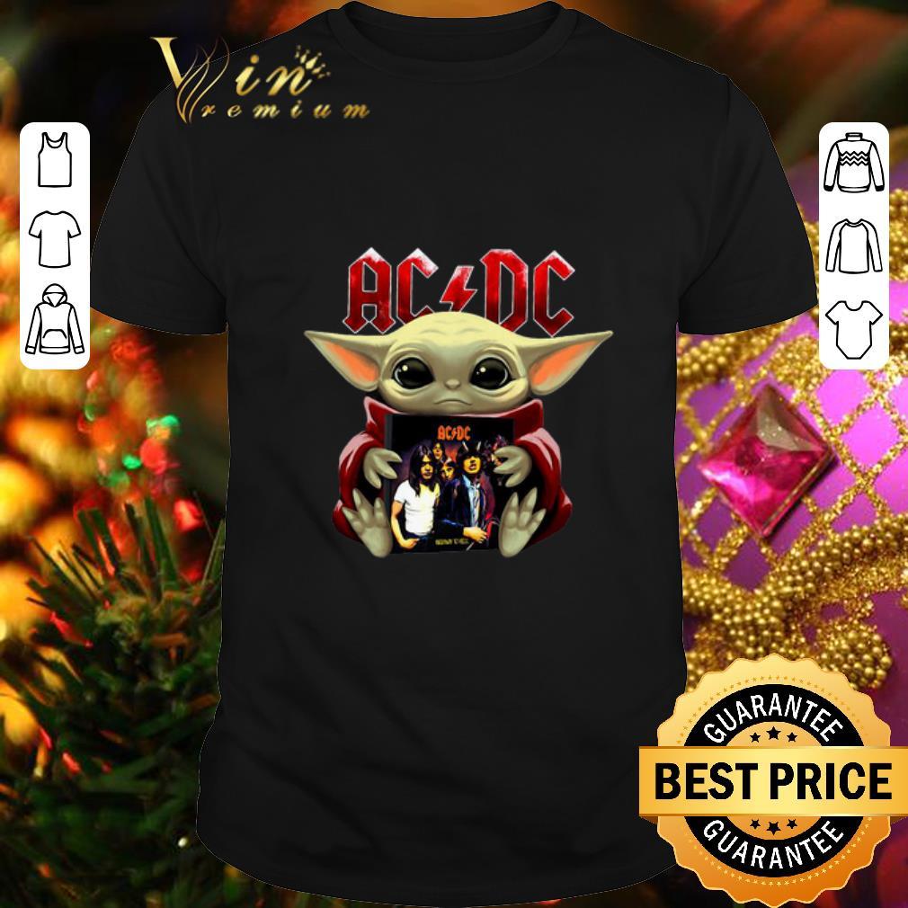 Baby Yoda Hug ACDC Star Wars shirt