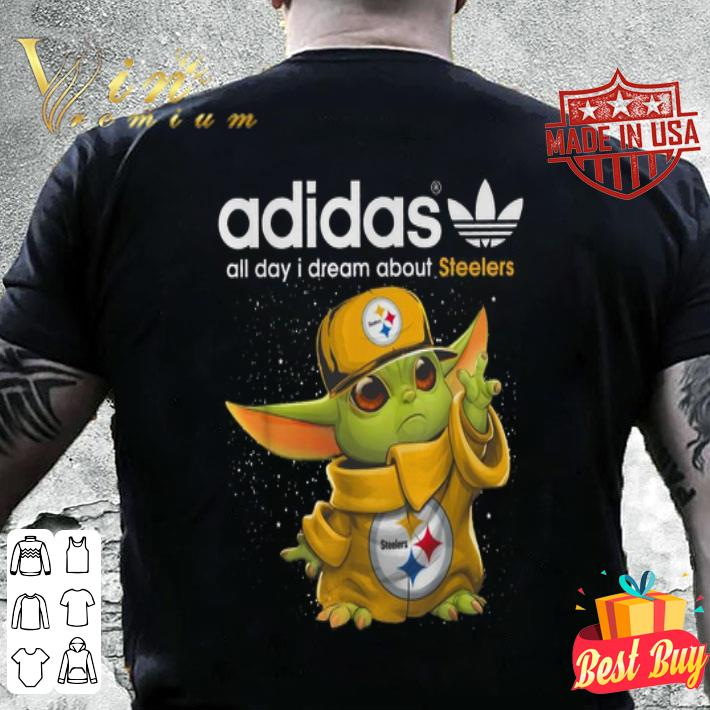 Baby Yoda adidas all day i dream about Pittsburgh Steelers