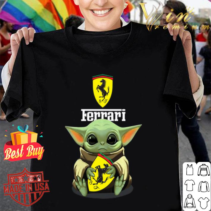 Baby Yoda hug Ferrari Star Wars Mandalorian shirt