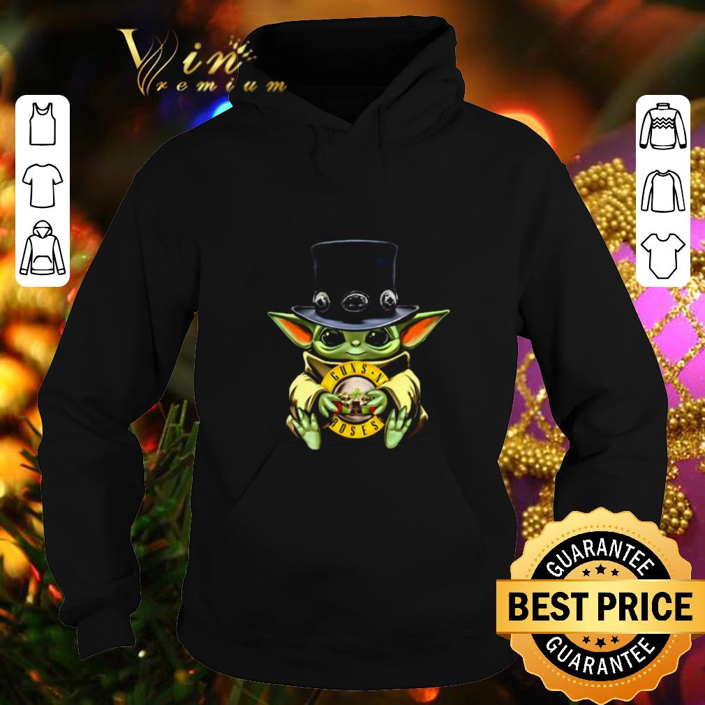 Baby Yoda Hug Guns N' Roses Logo Star Wars Shirt, Hoodie