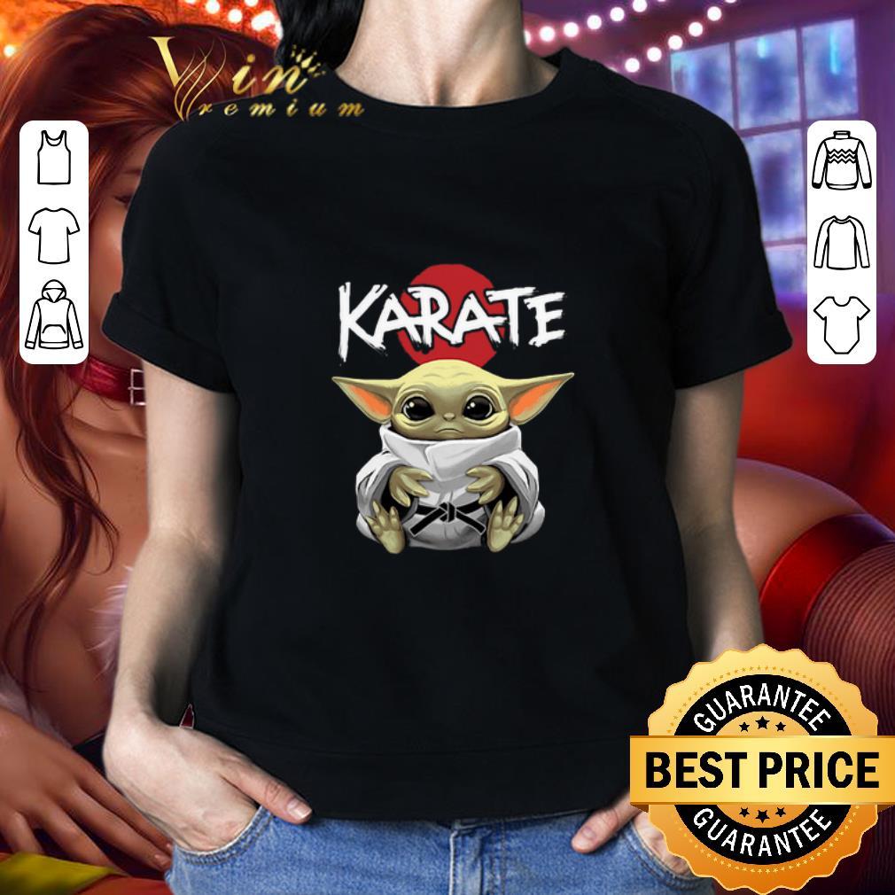 Baby Yoda wearing Karate Star Wars shirt