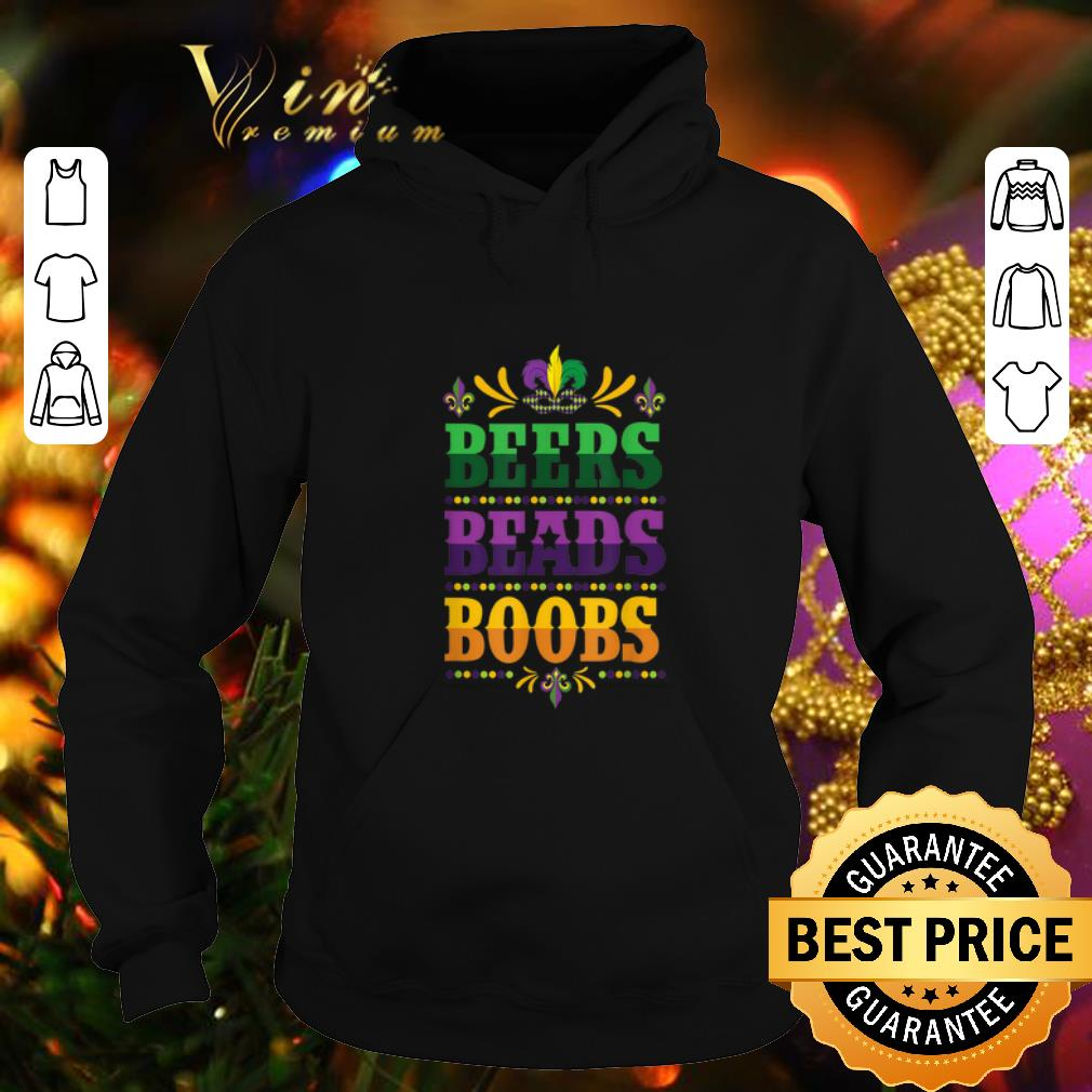Beer Beads Boobs Mardi Gras New Orleans shirt