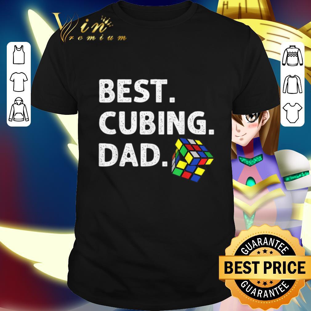 Best Cubing Dad Puzzle shirt