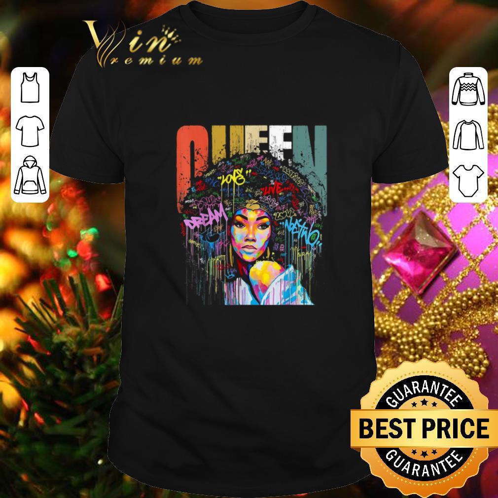 Black Women Queen Vintage Colorful shirt