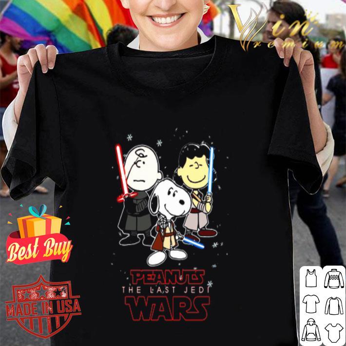 Characters Peanuts Wars The Last Jedi Star Wars shirt