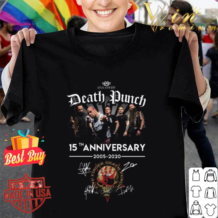 Five Finger Death Punch 15th anniversary 2005 2020 all signature shirt