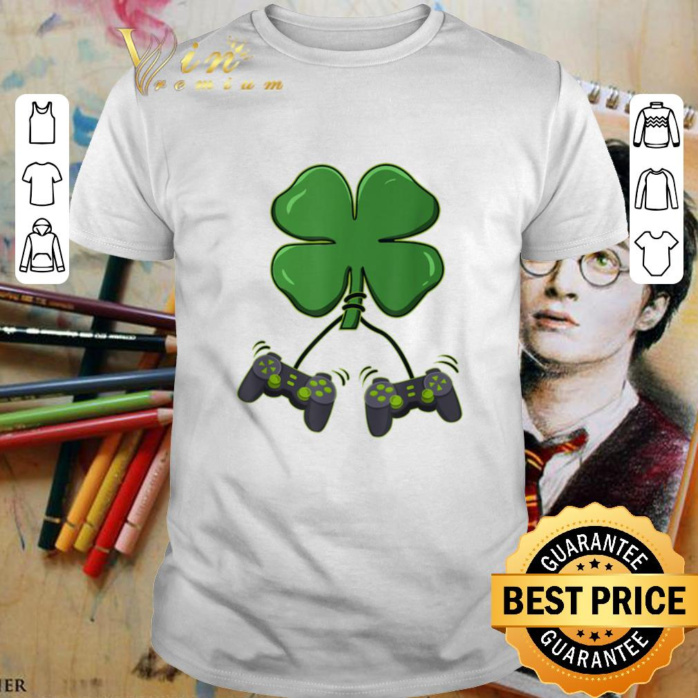 Four leaf clover video game controllers shirt 1