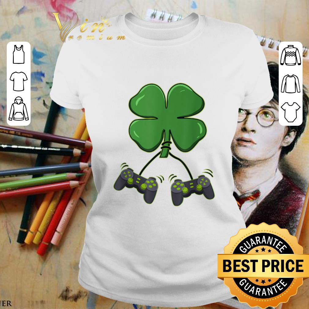 Four leaf clover video game controllers shirt 2