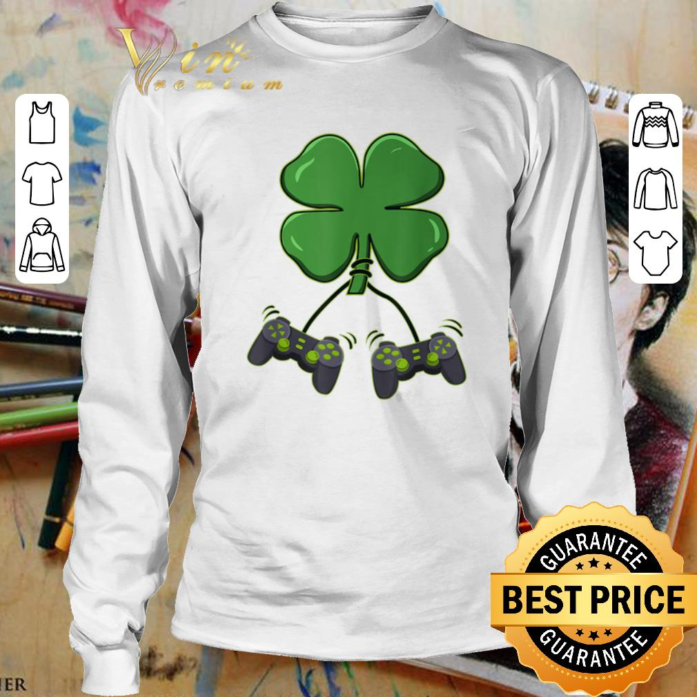 Four leaf clover video game controllers shirt 3