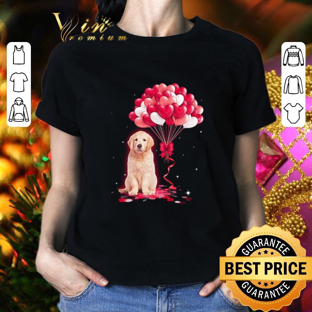 Golden Retriever dog Love Balloons heart shirt