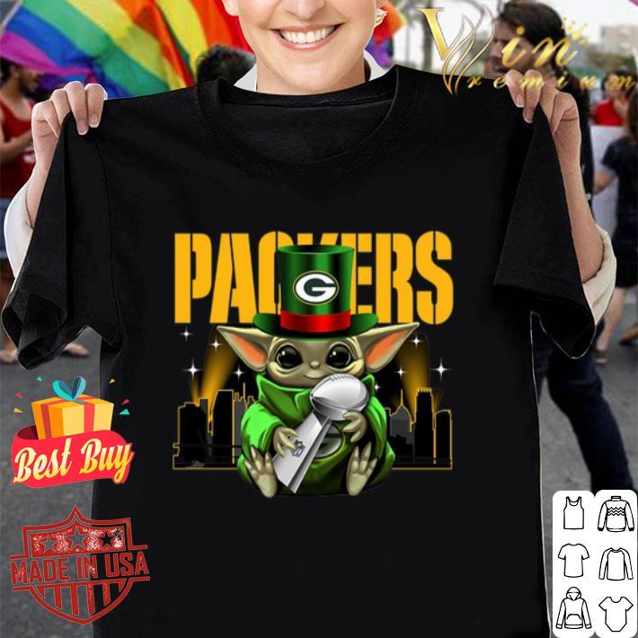 Green Bay Packers Baby Yoda Super Bowl LIV Star Wars shirt