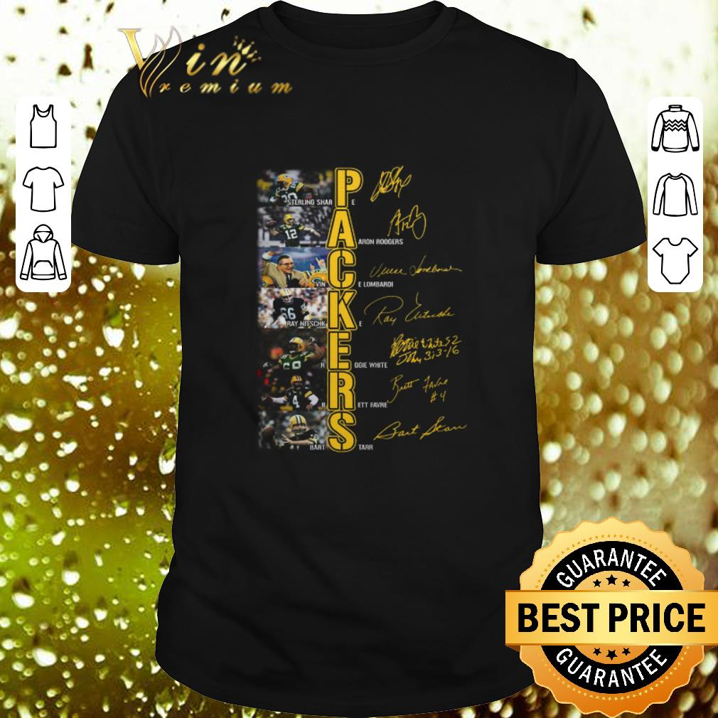 Green Bay Packers Sterling Sharpe Aaron Rodgers signatures shirt