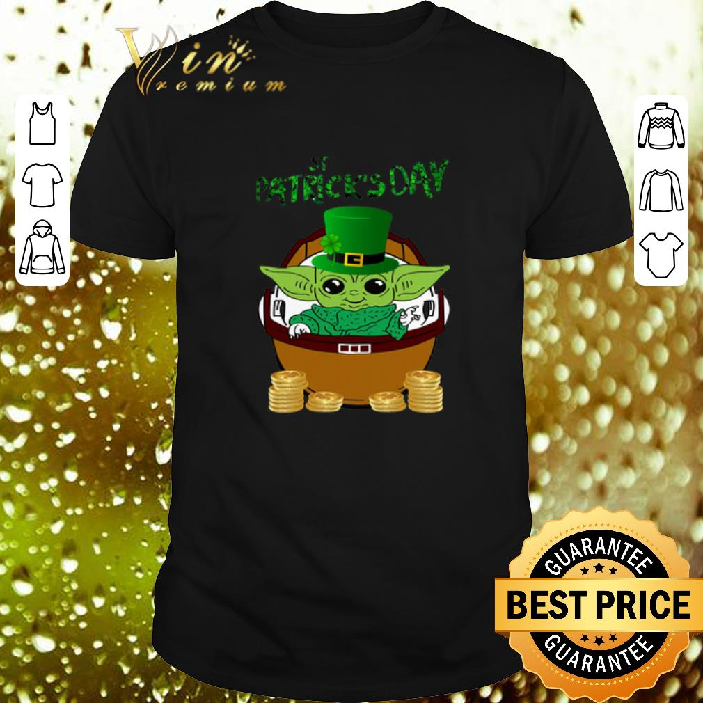 Happy St Patrick's Day Baby Yoda Star Wars shirt