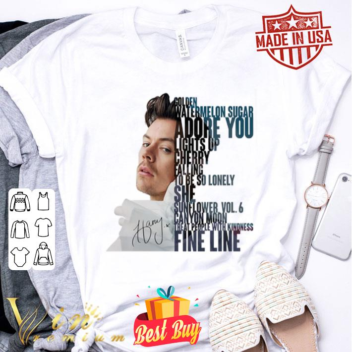 Harry Styles signed golden watermelon sugar adore you lights up shirt