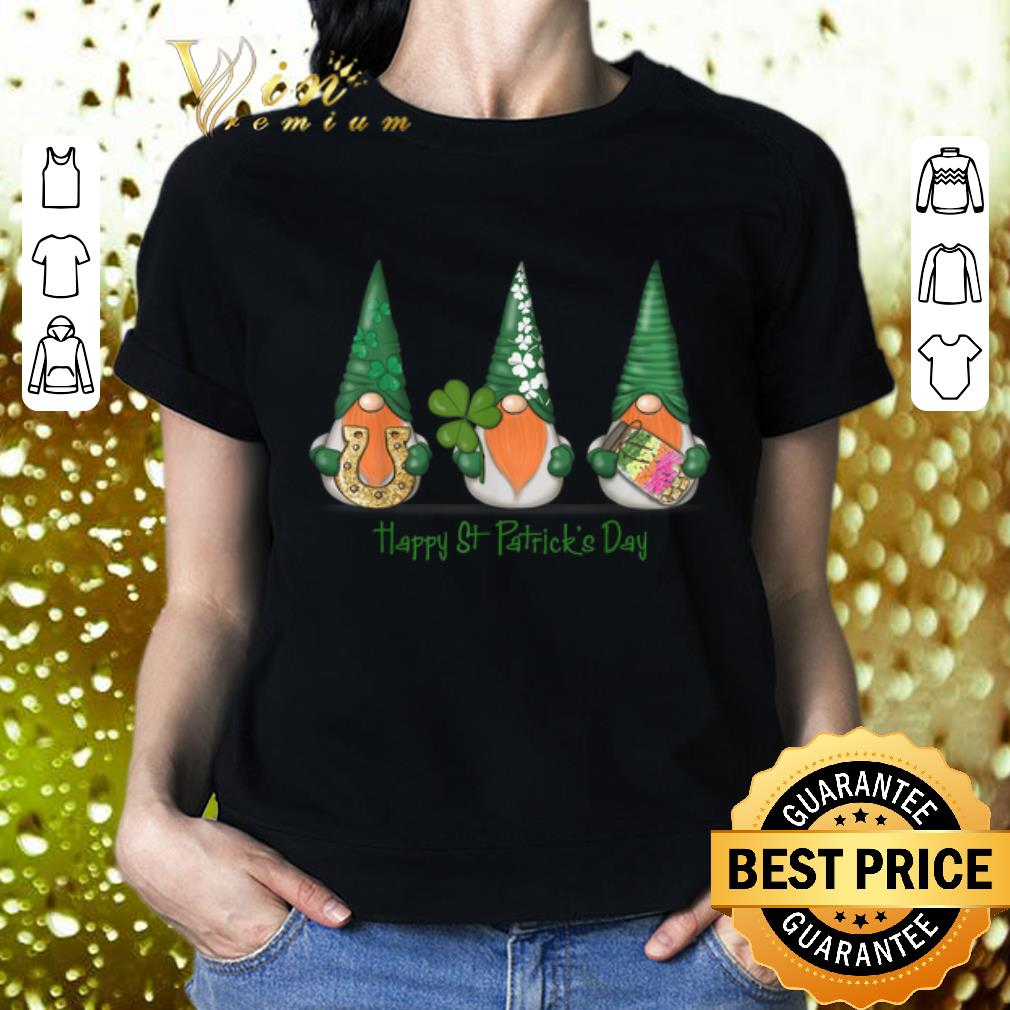 Horseshoe Gnomes Happy St Patrick's Day shirt