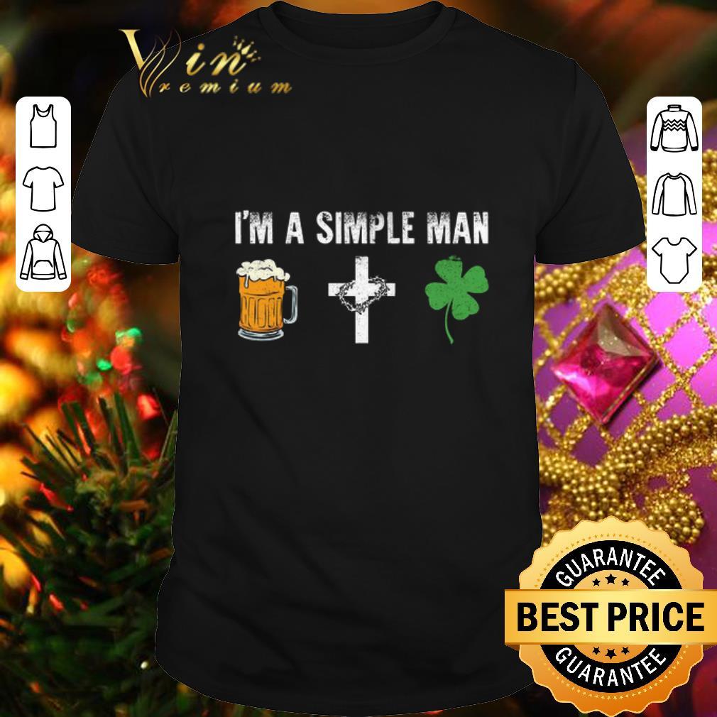 I'm a simple man i like beer cross four leaf clovers shirt 1