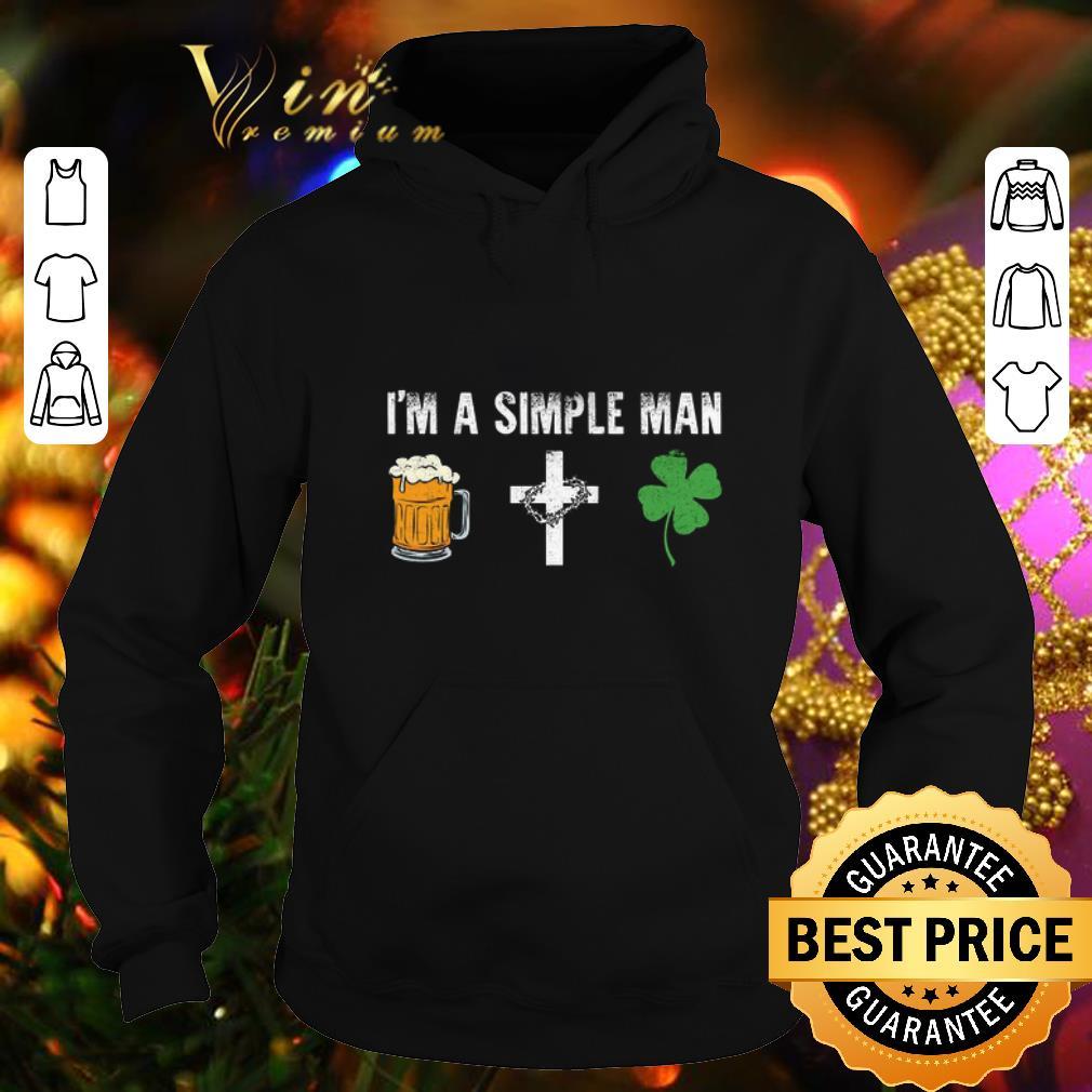 I'm a simple man i like beer cross four leaf clovers shirt