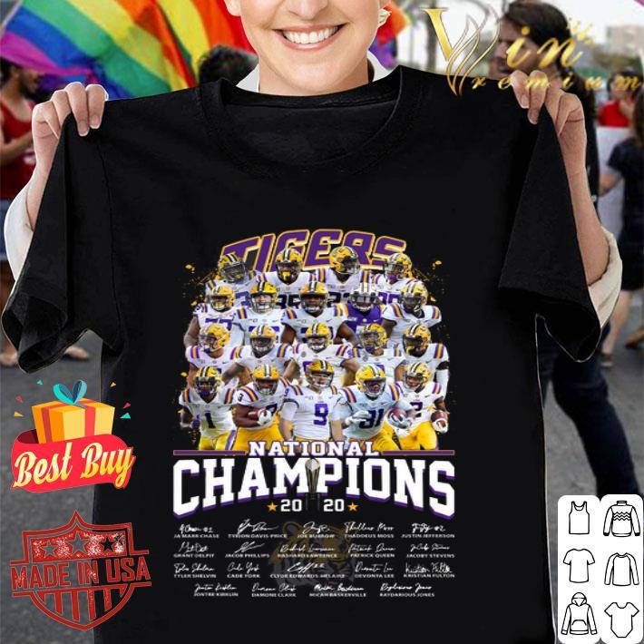 Geaux Tigers 2020 CFP National Champions LSU Clemson Tigers shirt