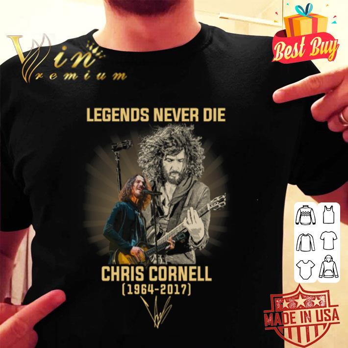 Legends never die Chris Cornell 1964 2017 signature autographed shirt