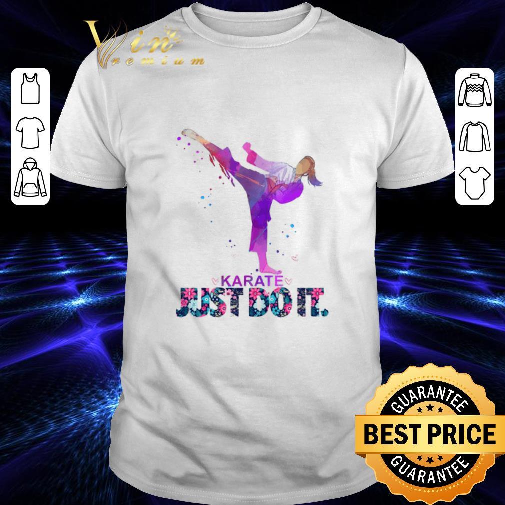 Nike Karate Just Do It Flowers shirt 1