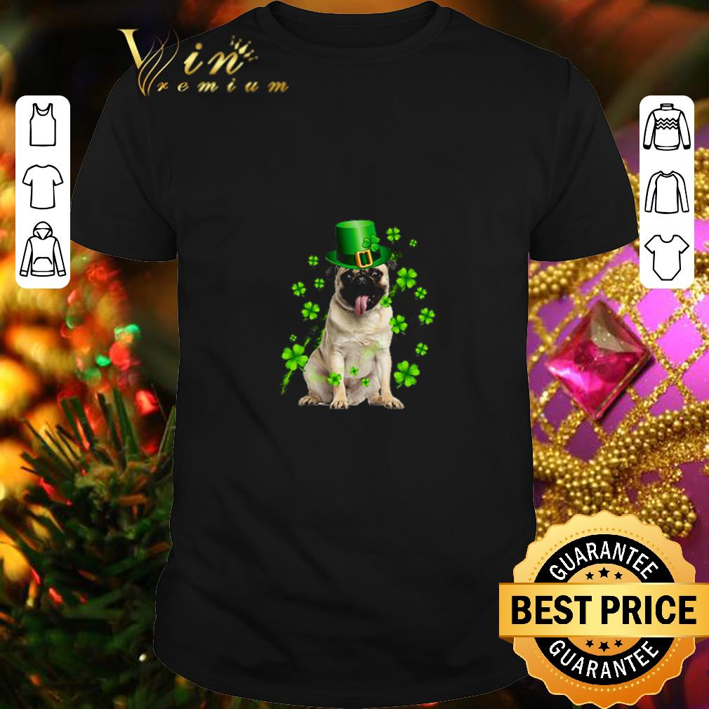 Pug dog St Patrick's Day Four-leaf clover shirt