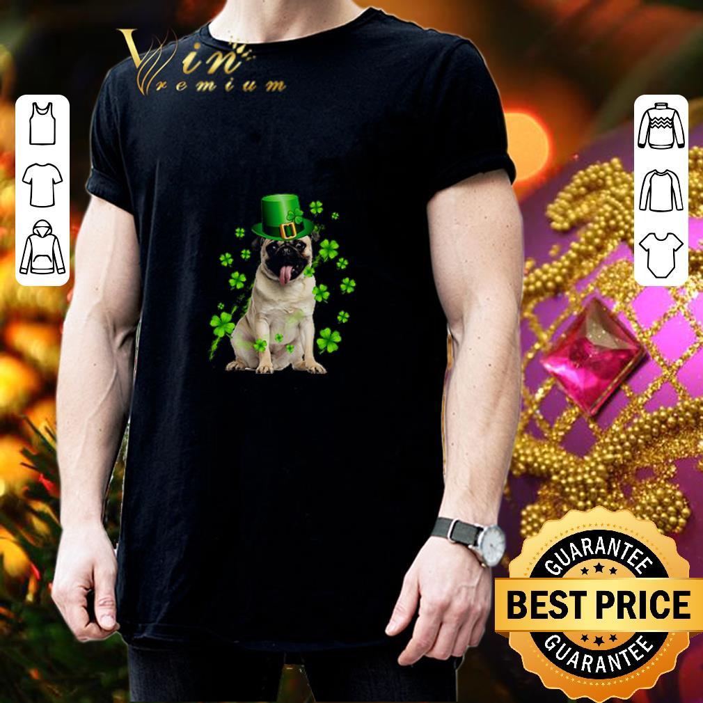 Pug dog St Patrick's Day Four-leaf clover shirt 3
