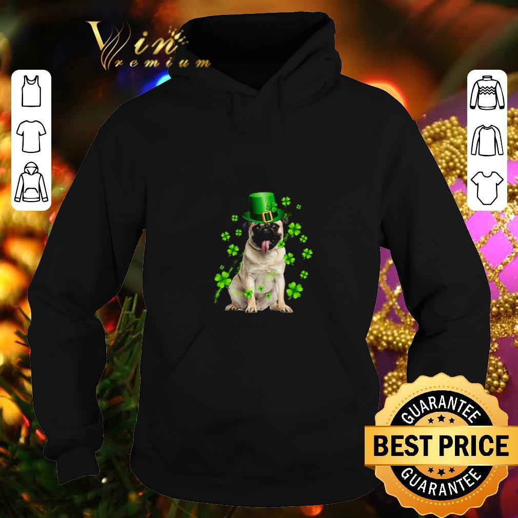 Pug dog St Patrick's Day Four-leaf clover shirt